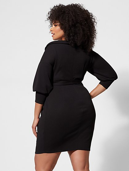 623a042d06d ... Plus Size Lena Off-Shoulder Belted Bodycon Dress - Fashion To Figure ...