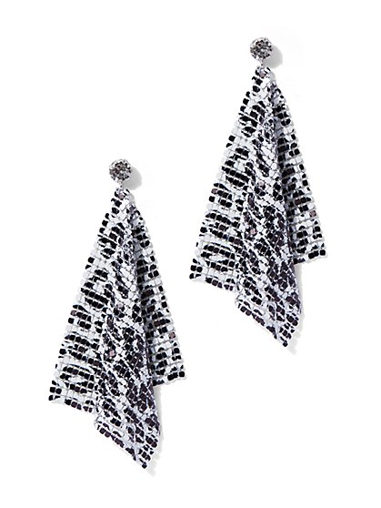 Plus Size Leopard Bandana Earring - Fashion To Figure