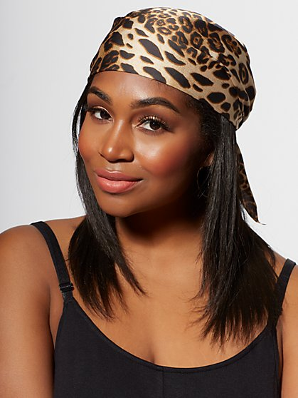 Plus Size Leopard Print Headscarf - Fashion To Figure