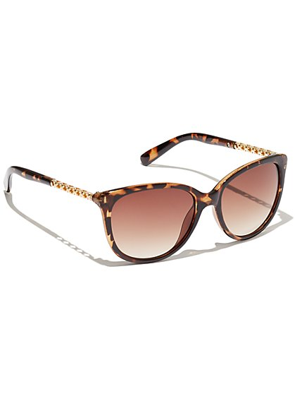 Plus Size Leopard Print Oversized Sunglasses - Fashion To Figure