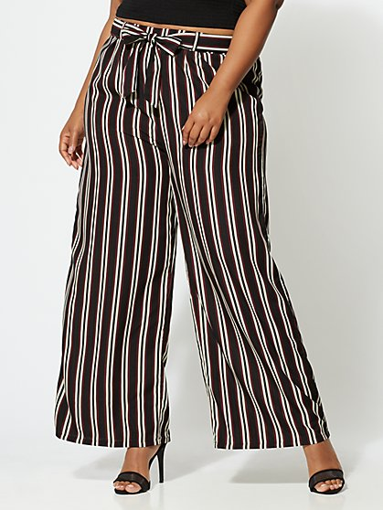 Plus Size Liana Wide-Leg Pants - Fashion To Figure