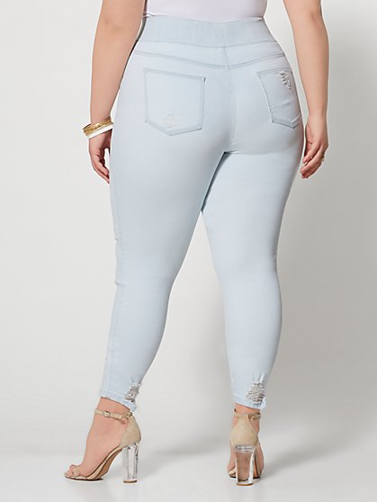 d33a8302094 ... Plus Size Light Wash High-Rise Jeggings - Fashion To Figure