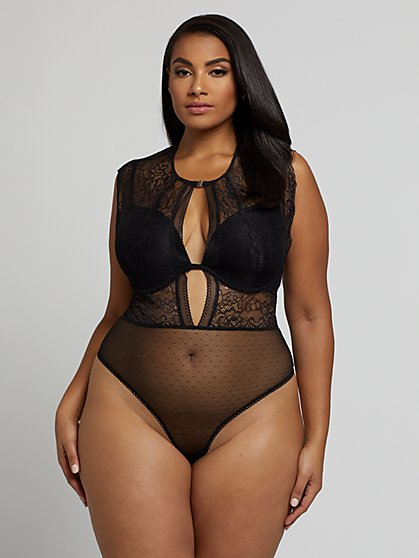 Plus Size Lily Lace Lingerie Bodysuit - Fashion To Figure