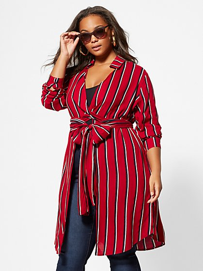 Plus Size Liv Tie-Front Tunic - Fashion To Figure