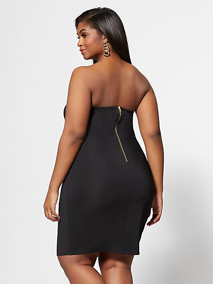 6c22b93a2b0 ... Plus Size Logan Grommet-Detail Bodycon Dress - Fashion To Figure ...