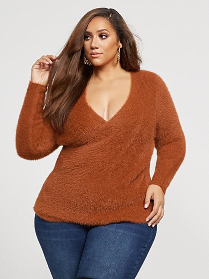 Plus Size Lola Fuzzy Sweater - Fashion To Figure