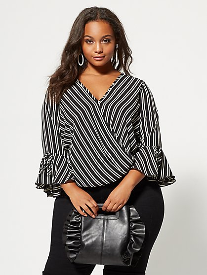 Plus Size London Bell-Sleeve Top - Fashion To Figure