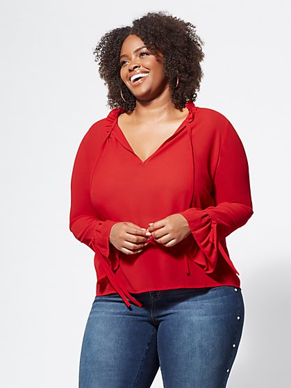 Plus Size Londyn Chiffon Blouse - Fashion To Figure