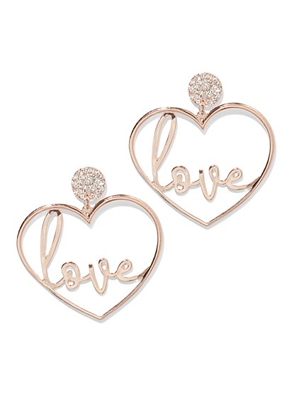 Plus Size Love Heart Hoop Earrings - Fashion To Figure