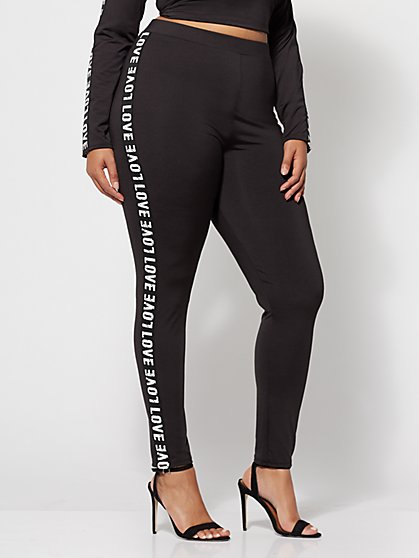 Plus Size Love Leggings - Fashion To Figure