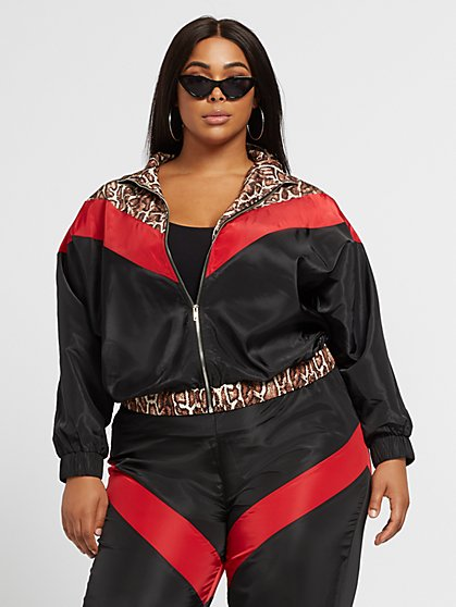 Plus Size Lovisa Windbreaker Jacket - Fashion To Figure