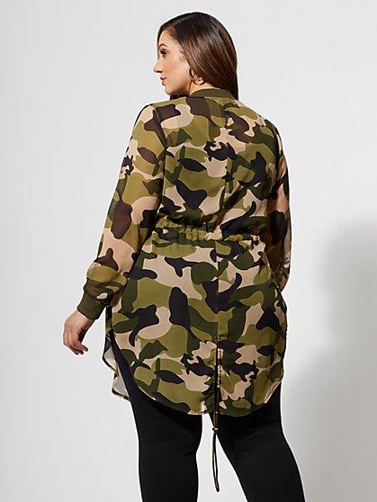 8ab8edece66 ... Plus Size Lynne Camo Bomber Jacket - Fashion To Figure