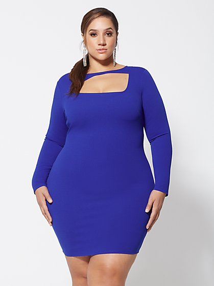 Plus Size Lynne Cut-Out Detail Bodycon Dress - Fashion To Figure