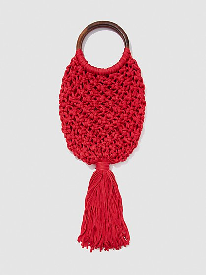 Plus Size Macrame Tassel Bag - Fashion To Figure