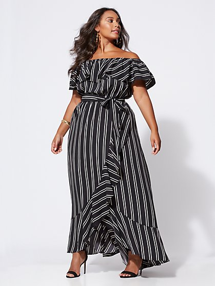 Plus Size Madeline Off-Shoulder Maxi Dress - Fashion To Figure
