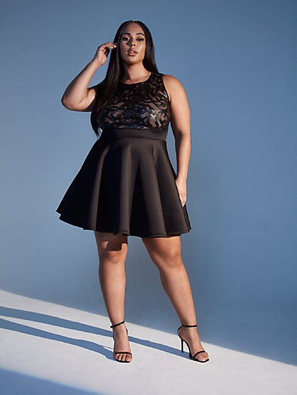 Plus Size Malia Flare Dress - Fashion To Figure