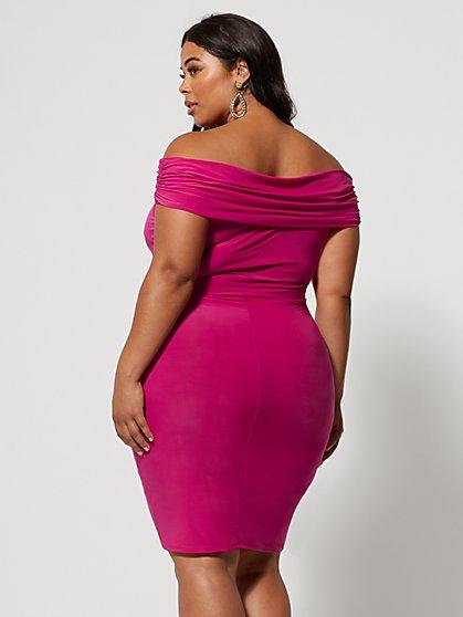 f32d4cea0a4a ... Plus Size Manuella Off Shoulder Bodycon Dress - Fashion To Figure ...