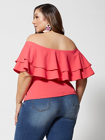 d2b3cd3ca9b ... Plus Size Marcella Ruffle Top - Fashion To Figure ...