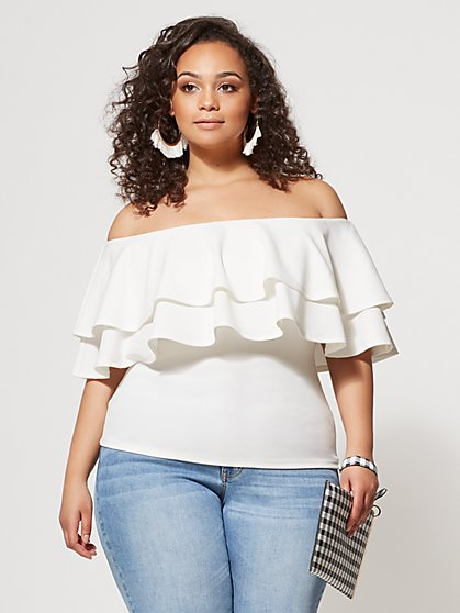 b2a75f180c8 Plus Size Marcella Ruffle Top - Fashion To Figure ...