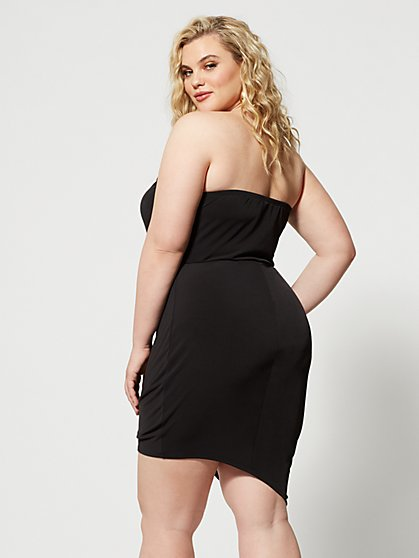 0e69dc8c090e ... Plus Size Marcie Strapless Drape Detail Dress - Fashion To Figure ...