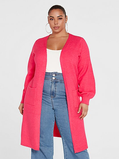 Plus Size Marguerite Long Cardigan Sweater - Fashion To Figure
