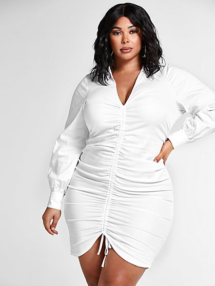 Plus Size Mari Ruched Tie Dress - Fashion To Figure