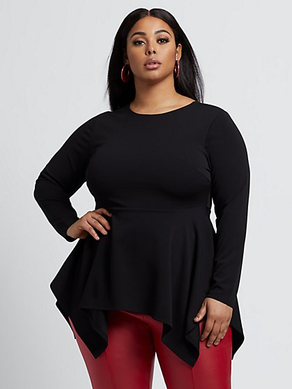 Plus Size Mariana Peplum Top - Fashion To Figure