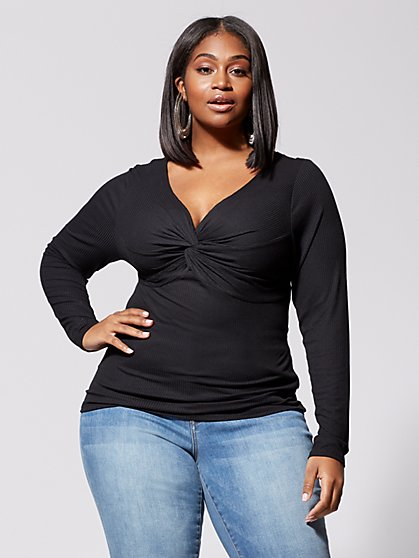 Plus Size Marie Twist-Front Top - Fashion To Figure