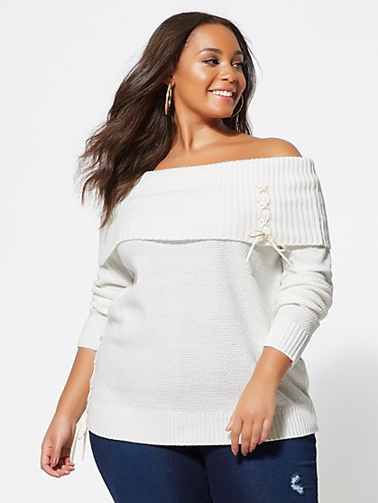 Plus Size Marilyn Tunic Sweater - Fashion To Figure