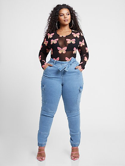 Plus Size Mariposa Butterly Mesh Top - Fashion To Figure
