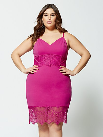 Plus Size Marlena Lace Bodycon Dress - Fashion To Figure