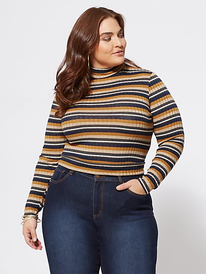 Plus Size Max Cutout-Accented Sweater - Fashion To Figure