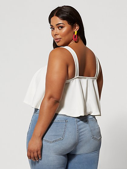 60e0bb0e80f115 ... Plus Size Melani Flounce Tank Top - Fashion To Figure ...