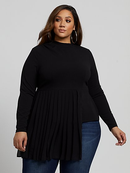 Plus Size Melanie Drama Top - Fashion To Figure
