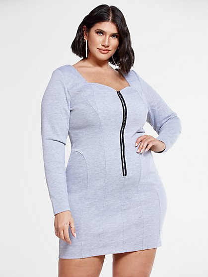 Plus Size Melinda Sweatshirt Dress - Fashion To Figure