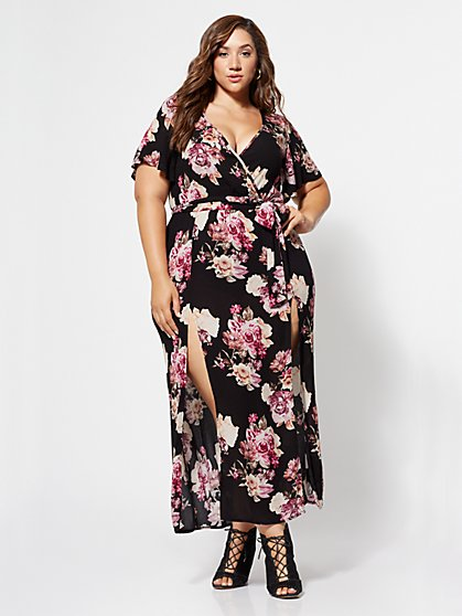 Plus Size Meredith Floral Maxi Dress - Fashion To Figure