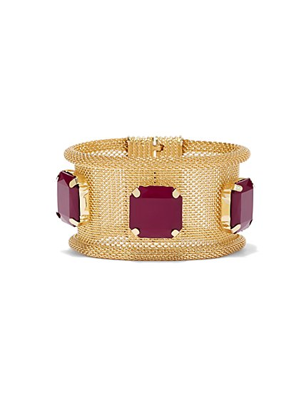 Plus Size Mesh Bracelet With Stone Detail - Fashion To Figure