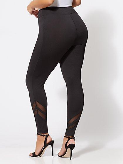1b06ee2003105 ... Plus Size Mesh-Panel Leggings - Fashion To Figure