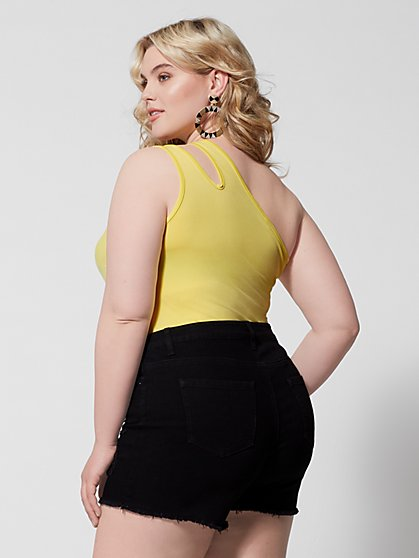 abaead082a0 ... Plus Size Mila Cut-Out One Shoulder Tank Top - Fashion To Figure ...