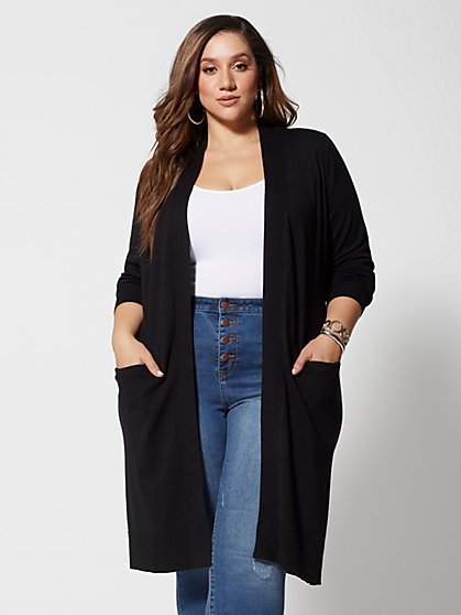 Plus Size Mischa Long Knit Cardigan - Fashion To Figure