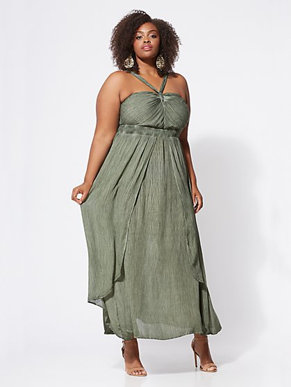 Plus Size Mischa Textured Maxi Dress - Fashion To Figure