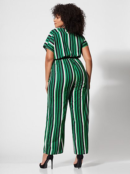 4f09457cab8 ... Plus Size Misty Striped Belted Jumpsuit - Fashion To Figure ...