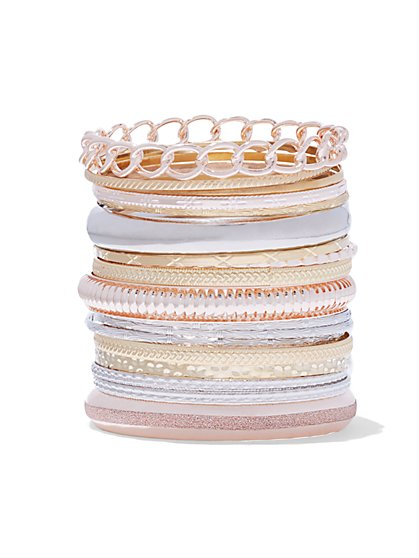 Plus Size Mixed Bangle Set - Fashion To Figure