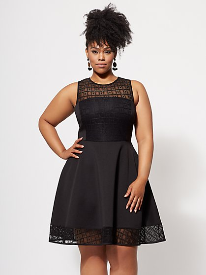 Plus Size Mollie Flare Dress - Fashion To Figure