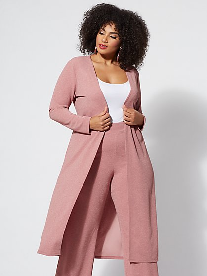 Plus Size Molly Glitter Duster - Fashion To Figure