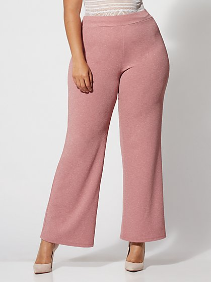 Plus Size Molly Glitter Flare Pants - Fashion To Figure