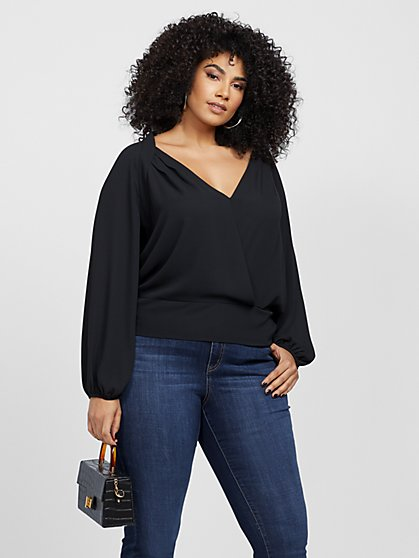 Plus Size Monica Balloon Sleeve Blouse - Fashion To Figure