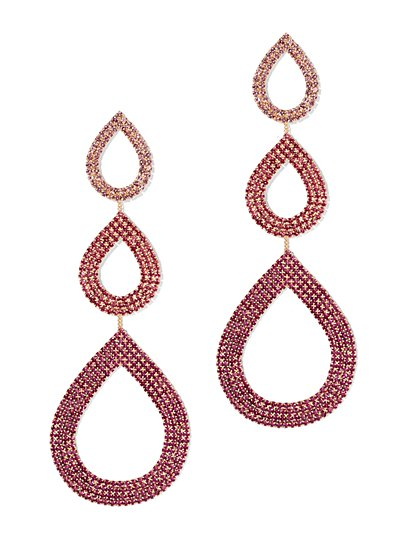 Plus Size Multi Tier Drop Earrings - Fashion To Figure