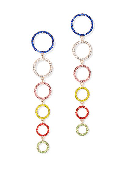 Plus Size Multicolored Drop Earrings - Fashion To Figure