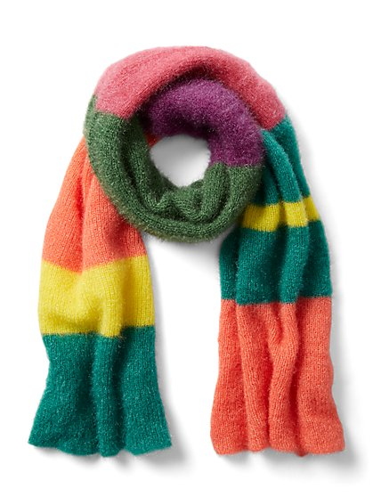 Plus Size Multicolored Scarf - Fashion To Figure